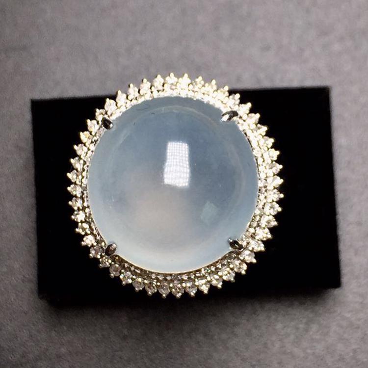 这是第2张A货玻璃种缅甸天然翡翠戒指的货源图片