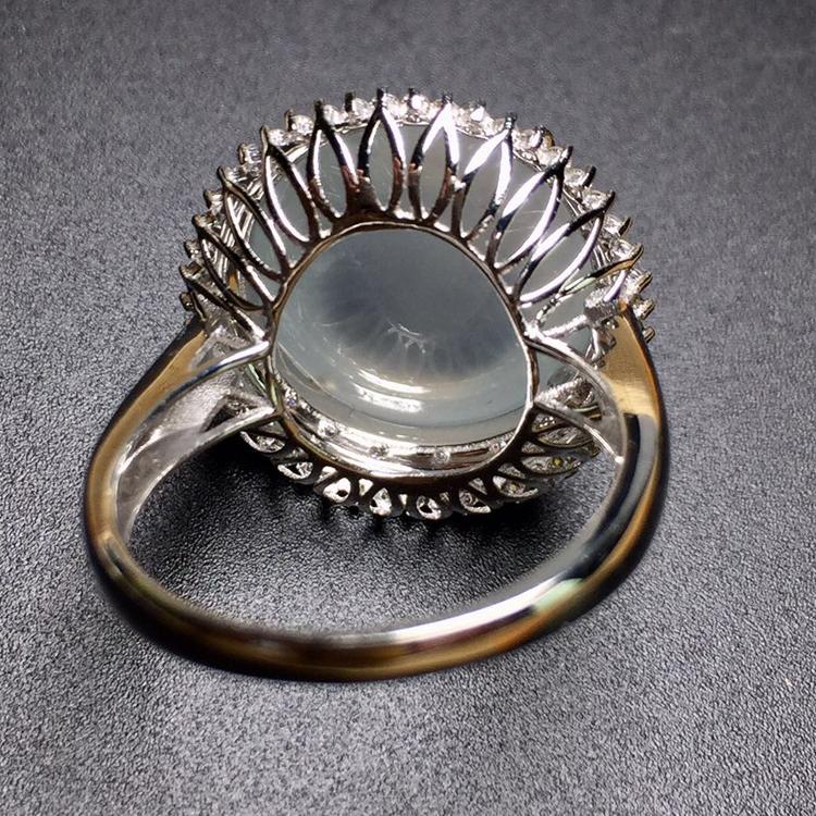 这是第3张A货玻璃种缅甸天然翡翠戒指的货源图片